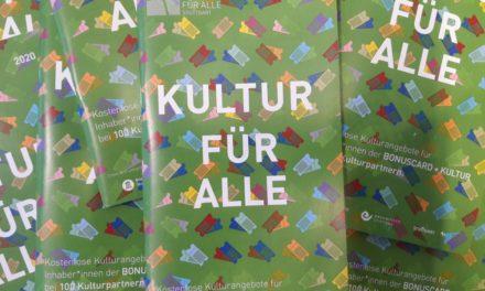 Booklet KULTUR FÜR ALLE 2020